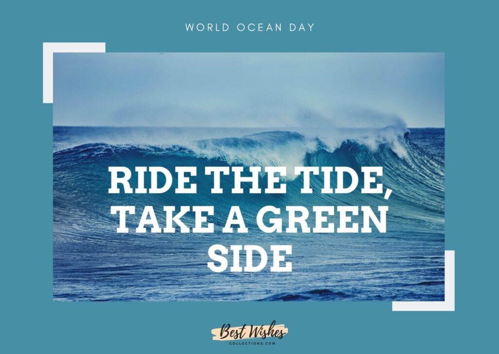 world ocean day slogan