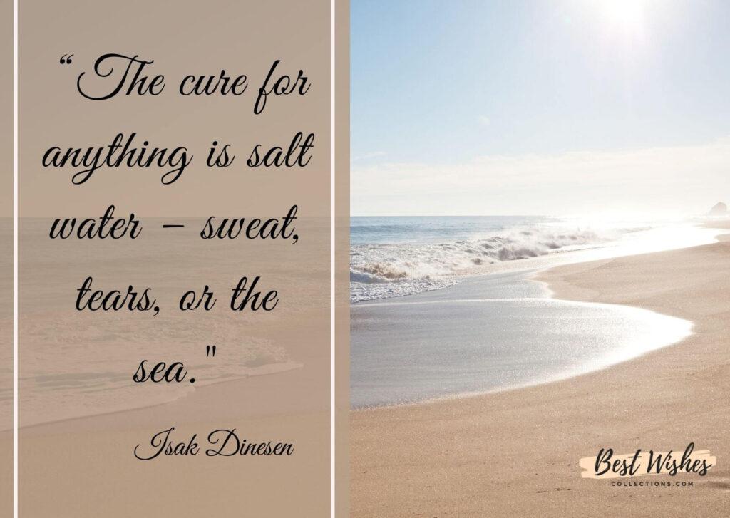 world ocean day quote by Isak Dinesen
