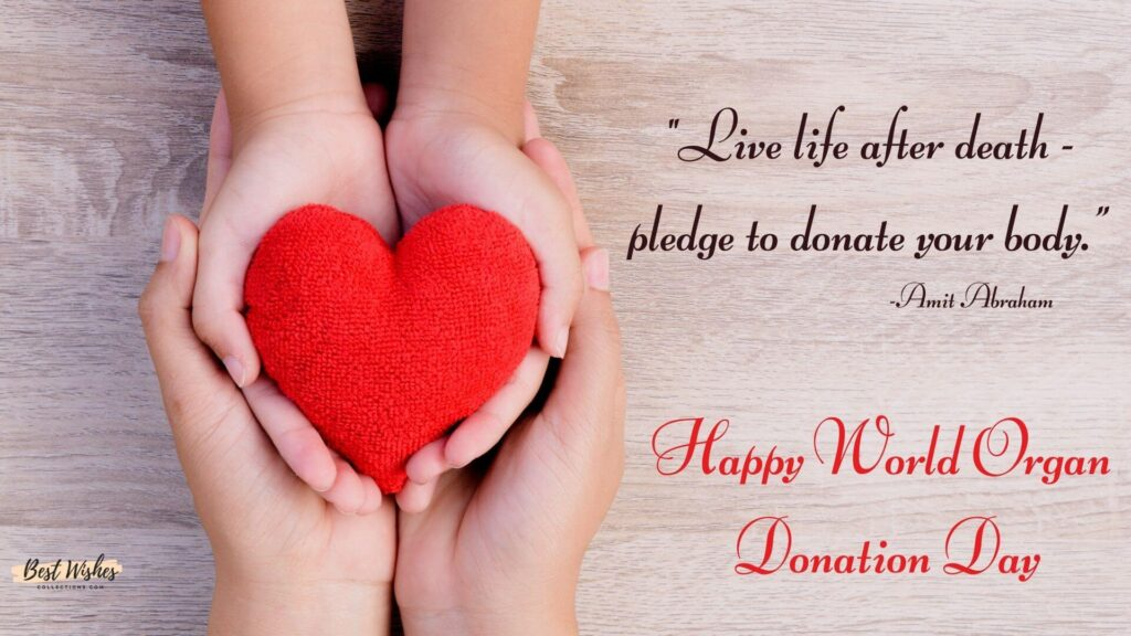 Organ Donation Day Quotes by Amit Abraham
