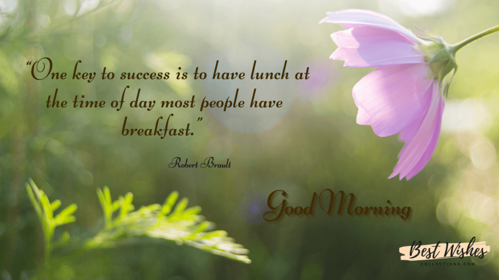 Good Morning Quotes by Robert Brault