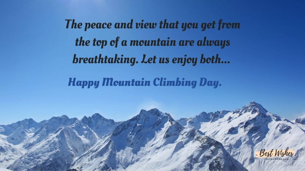 Mountain Climbing Day Images