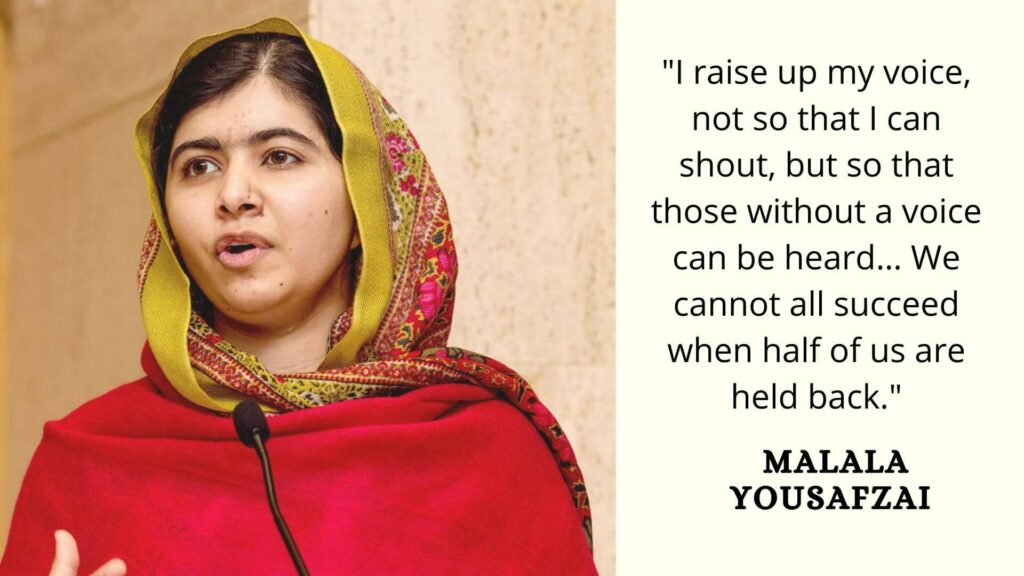 women's equality quotes by Malala Yousafzai