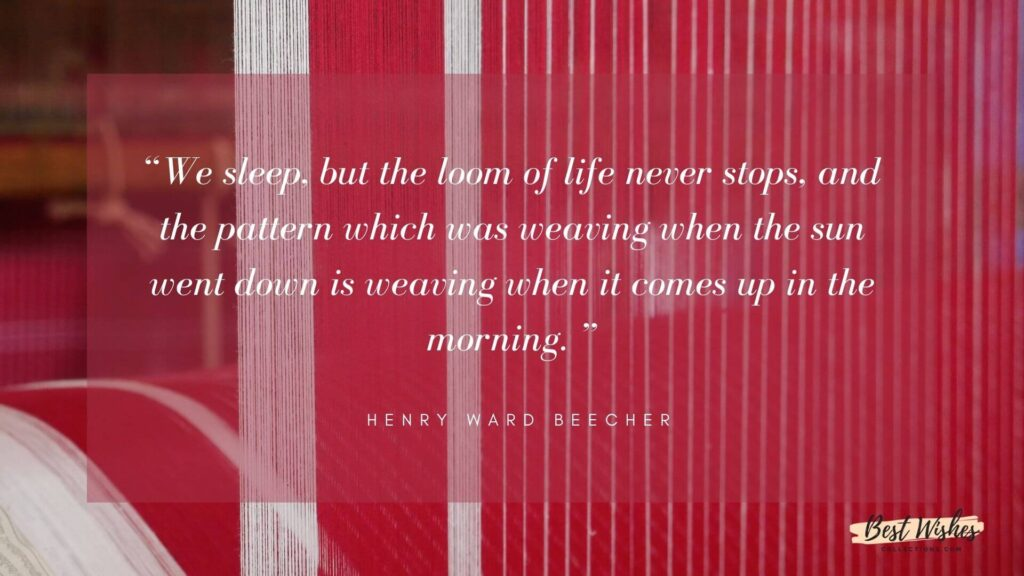 National Handloom Day Quotes by Henry Ward Beecher